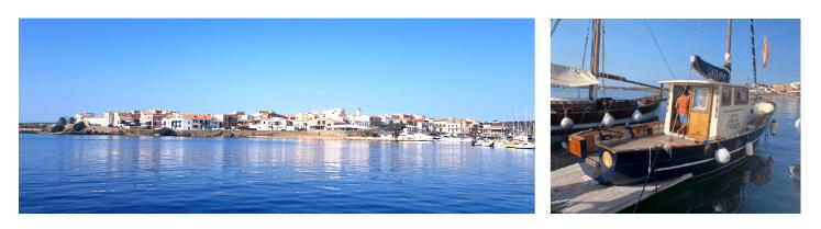 Vista di stintino dalla barca , in viaggio verso l'Isola dell'Asinara