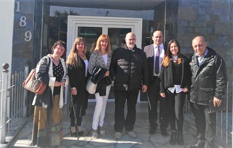 Delegación de la UNViMe en  los festejos de  Villa Valeria