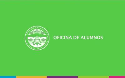 Apertura de inscripción a cursadas para el segundo cuatrimestre ciclo lectivo 2019