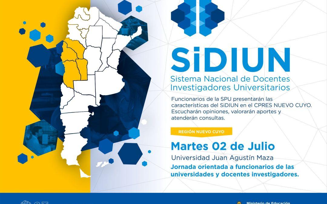 Reunión del Sistema Nacional de Docentes Investigadores(SiDIUN) – CPRES Nuevo Cuyo