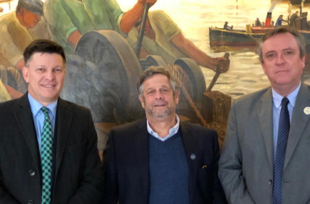 El rector normalizador Dr. David Rivarola mantuvo reuniones en Buenos Aires durante el receso invernal