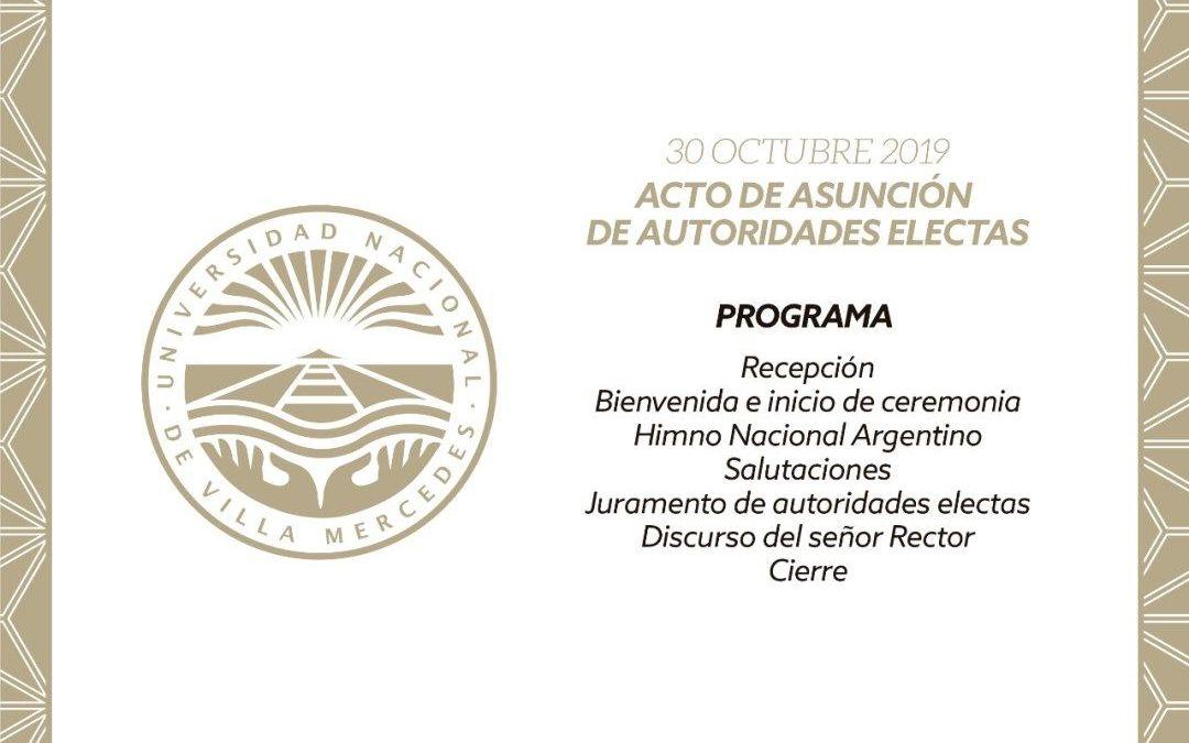 Asunción de las autoridades electas de la UNViMe