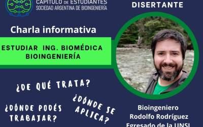Invitan a charla sobre Ingeniería Biomédica y Bioingeniería