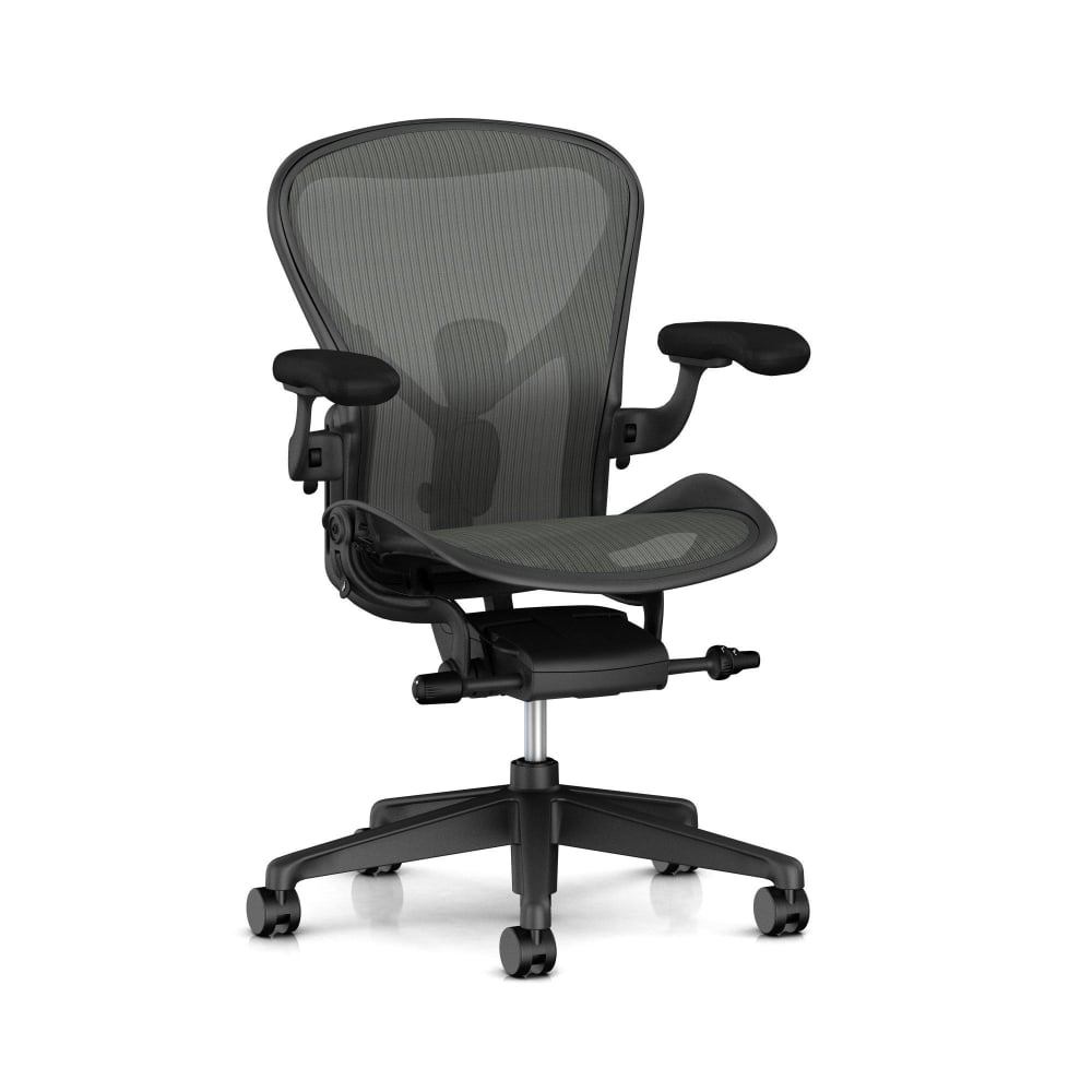 office chair with adjustable arms height high baby herman miller remastered aeron - cheapest in singapore.