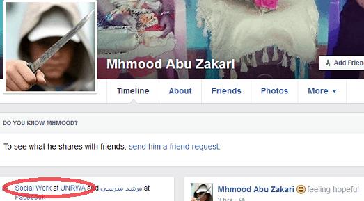 Mhmood Abu Zakari - Knife image + UNRWA link