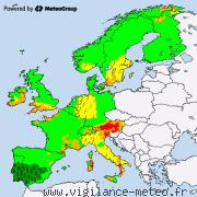 Alertes météo pour l'Europe