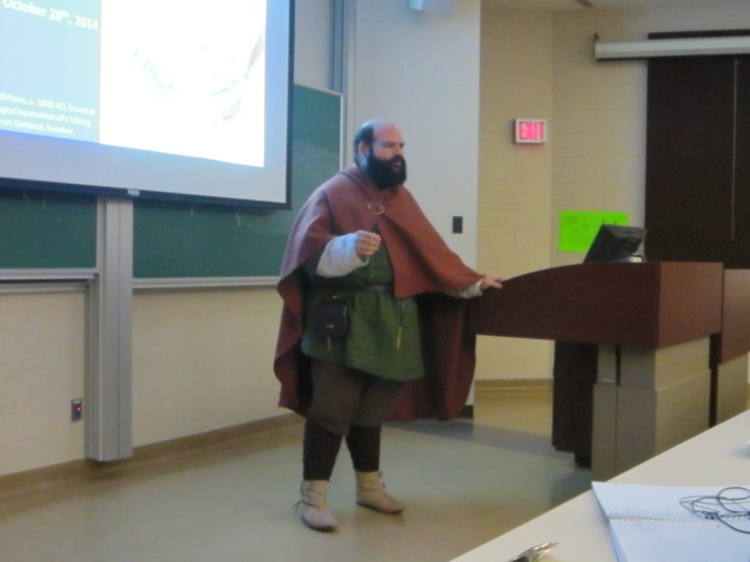 Dr. Teva Vidal dressed as a Viking. Photo used with permission, please do not report.