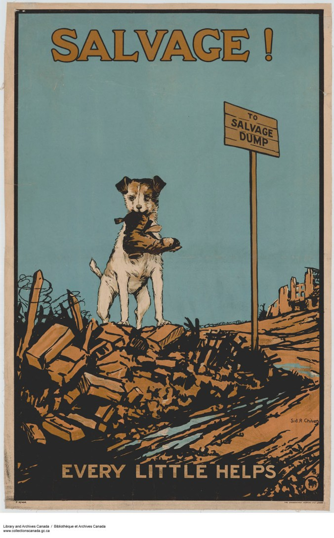"A war effort poster: ""Salvage! Every Little Helps"" / Sia R. Chilvers. Library and Archives Canada, e010696424; Acc. No. 1983-28-190 / CC by 2.0"