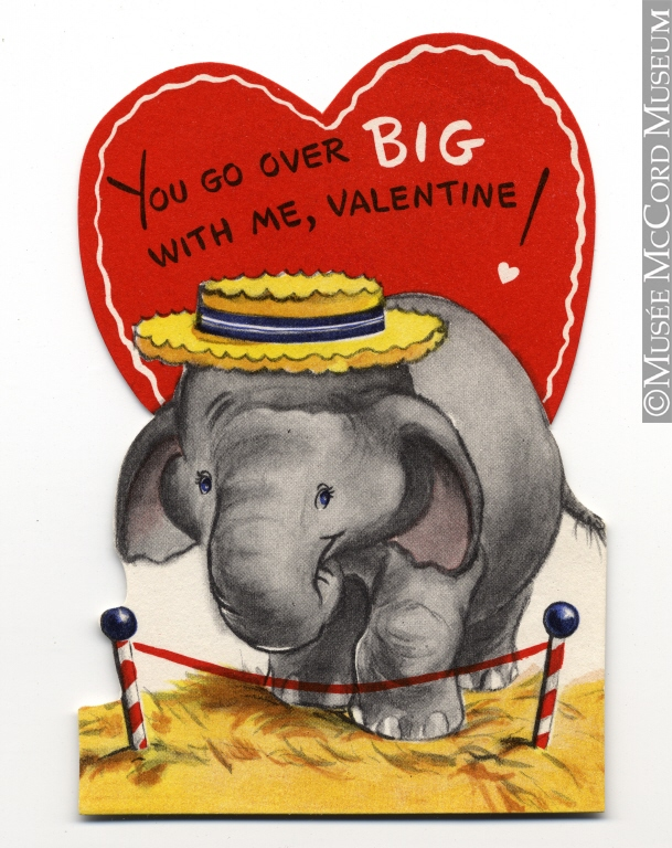 """You Go Over Big With Me, Valentine"", 1900-1960. Source: McCord Museum."