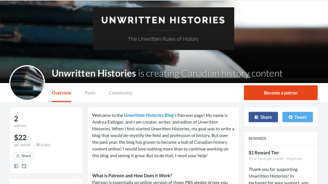 Unwritten Histories Needs Your Help!