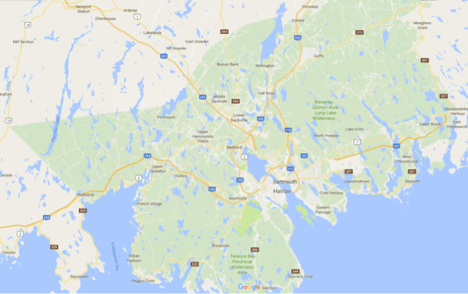 Map of Halifax