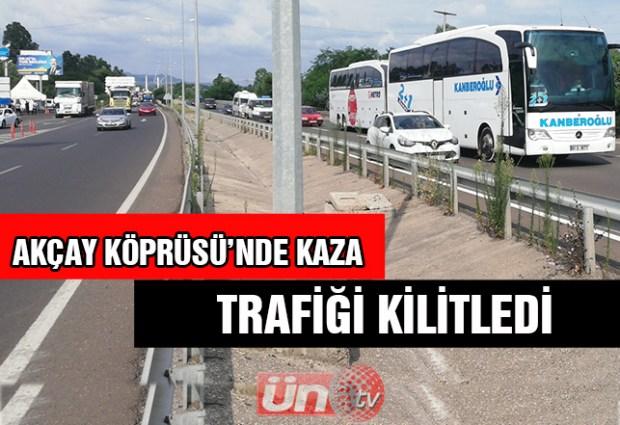 Kaza, Karadeniz Sahil Yolu'nu Kilitledi!