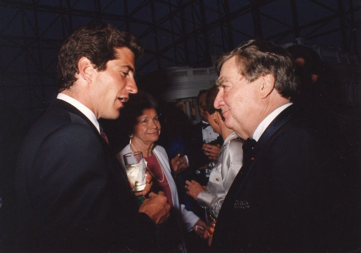 John Junior and Pierre Salinger in 1997