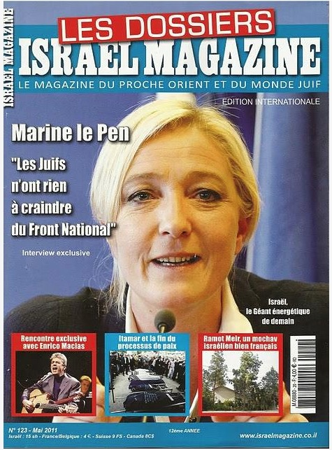 """Marine le Pen tells the Israeli media that the National Front is like a """"shield"""" protecting French Jews"""