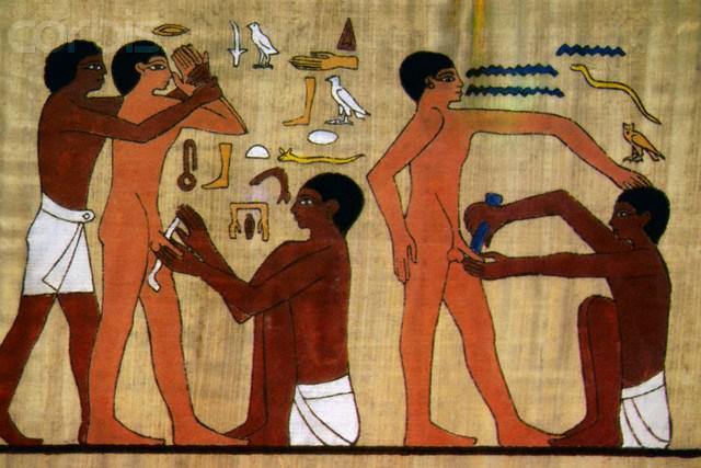 Beschneidung von Jugendlichen im alten Ägypten
