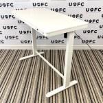 White Electric Desk 9