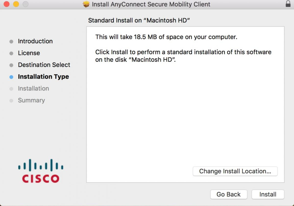 VPN AnyConnect Installation Instructions for Mac