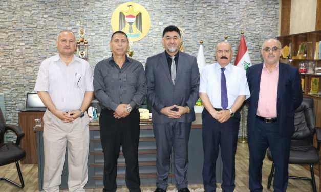 وفد جامعة الموصل المشرف على الاسئلة التقويمية في ضيافة جامعتنا