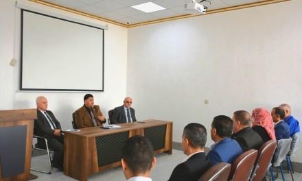 السيد رئيس الجامعة يجتمع برؤساء الأقسام العلمية في كلية التربية