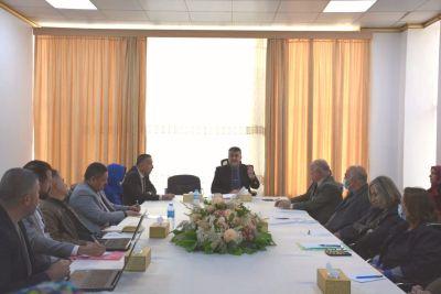 السيد رئيس الجامعة يلتقي بمسؤولي الأقسام والشعب الإدارية التابعة لمكتب السيد مساعد رئيس الجامعة للشؤون العلمية