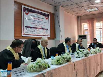 السيد مساعد رئيس جامعة الحمدانية للشؤون الادارية رئيسا لرسالة ماجستير بجامعة الموصل.