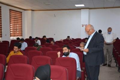 جامعة الحمدانية تباشر بأجراءات الامتحان التنافسي لطلبة الدراسات العليا
