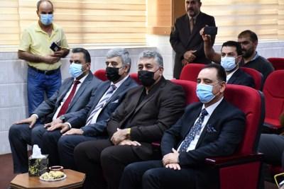 الأعرجي يحضر مناقشة رسالة ماجستير لأحد منتسبي جامعة الحمدانية في الموصل