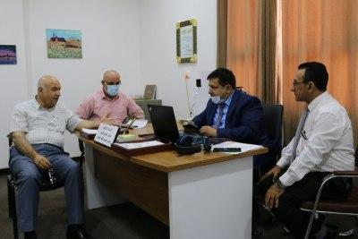 لجنة وزارية تتفقد سير الإمتحانات النهائية الحضورية والالكترونية في جامعةالحمدانية