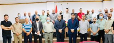 الأعرجي يلتقي بالكوادر الوظيفية لرئاسة جامعة الحمدانية وكلية التربية مهنئاً بالعام الدراسي الجديد