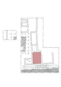 La posizione dell'ambiente 2 nello scavo