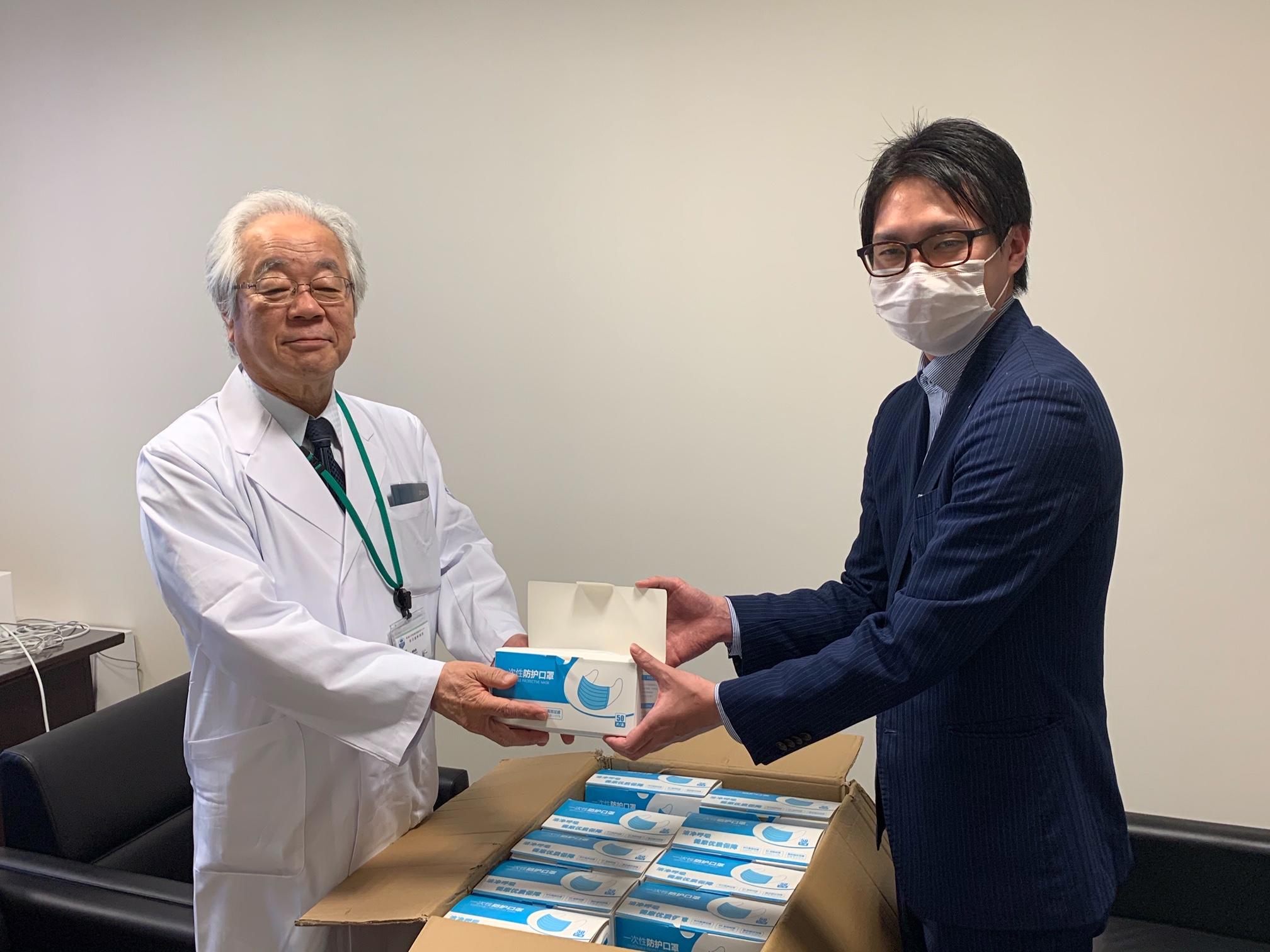 魚沼基幹病院にマスク2000枚を寄贈させていただきました。