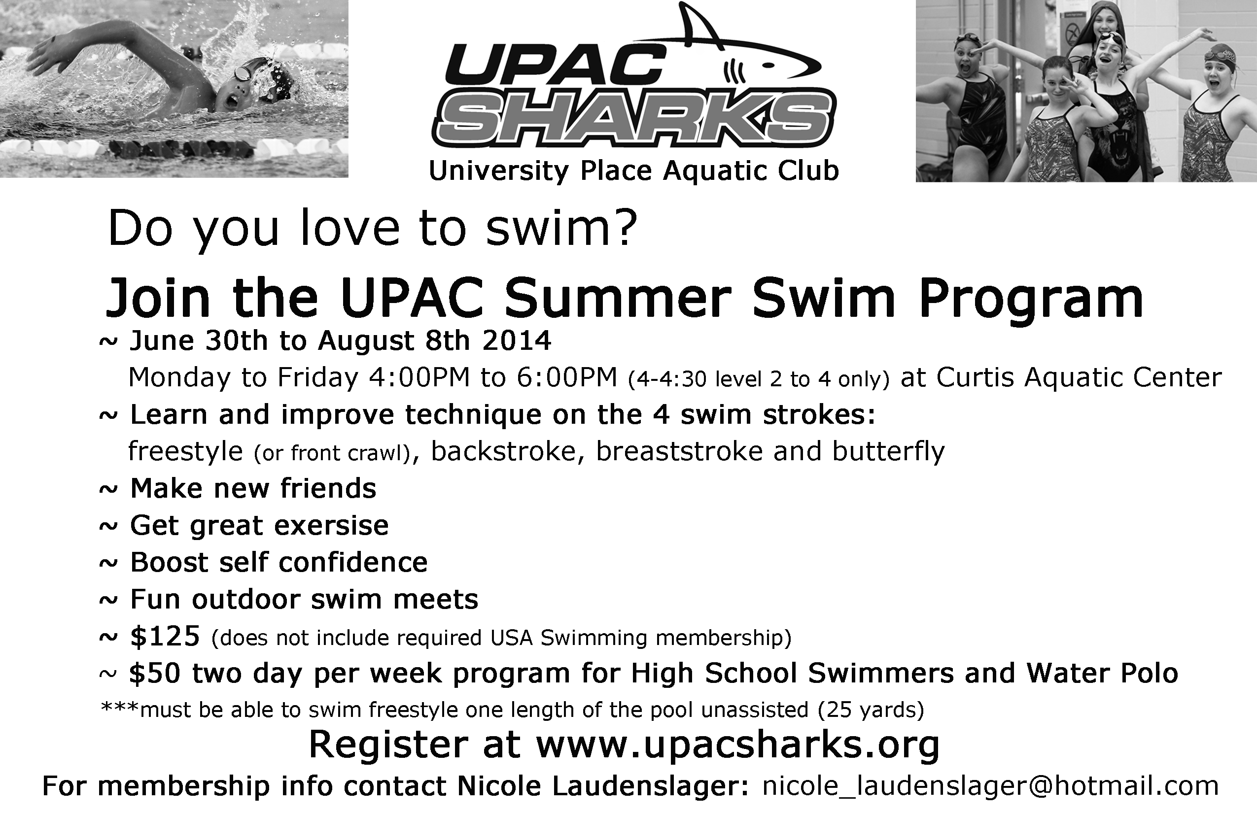 University Place Aquatic Club : Event