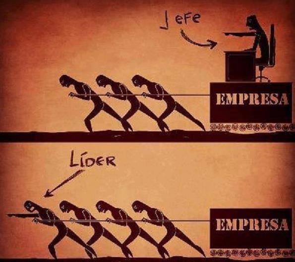 Resultado de imagen de lider vs jefe