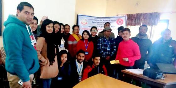 उदयपुरमा 'एशियन कलेज फर एड्भान्स स्टडीज'का विद्यार्थीहरु