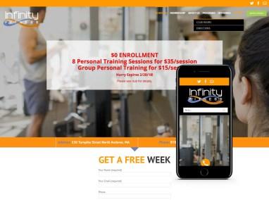 Fitness Center Web Design