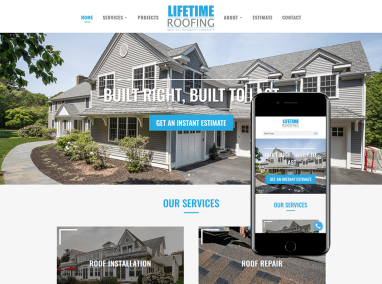 Roofing Company Web Design