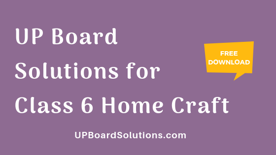 UP Board Solutions for Class 6 Home Craft गृहशिल्प