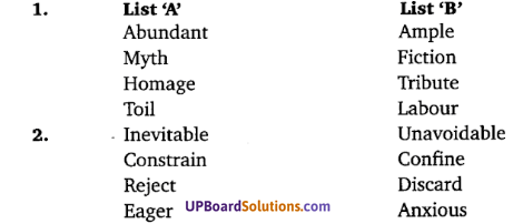 Class 10 English The Ganga UP Board Solutions