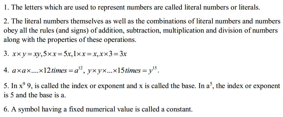 Algebra Formulas Formulas for Class 6 Q1