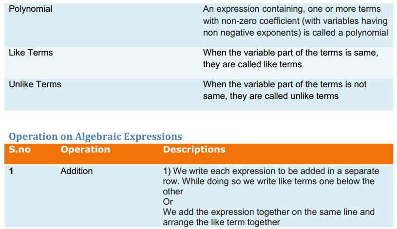 Algebraic Expressions and Identities Formulas Class 8 Q3