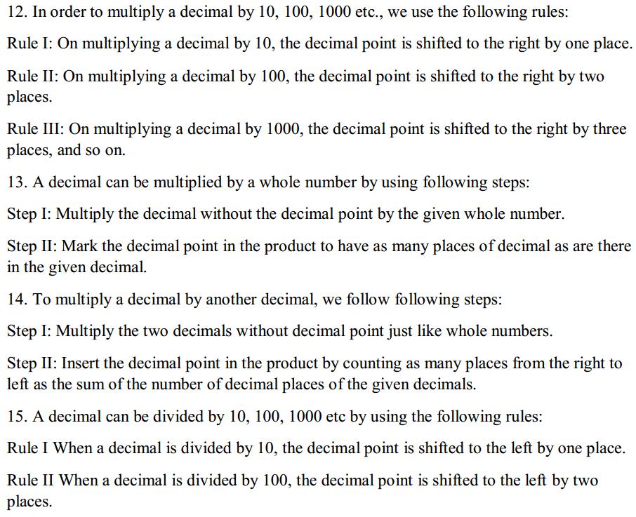 Fractions and Decimals Formulas for Class 7 Q6