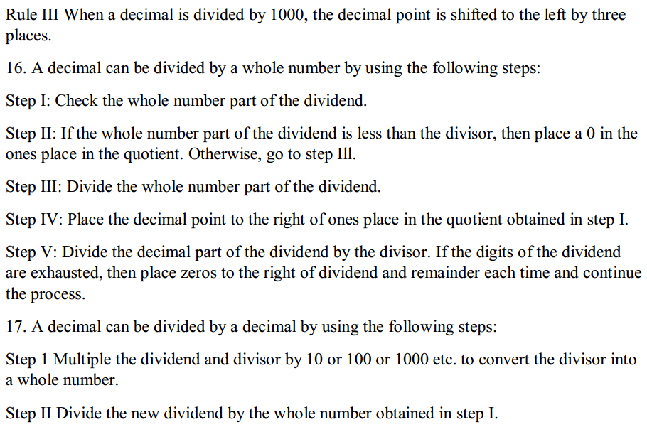 Fractions and Decimals Formulas for Class 7 Q7