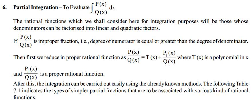Integrals Formulas for Class 12 Q5