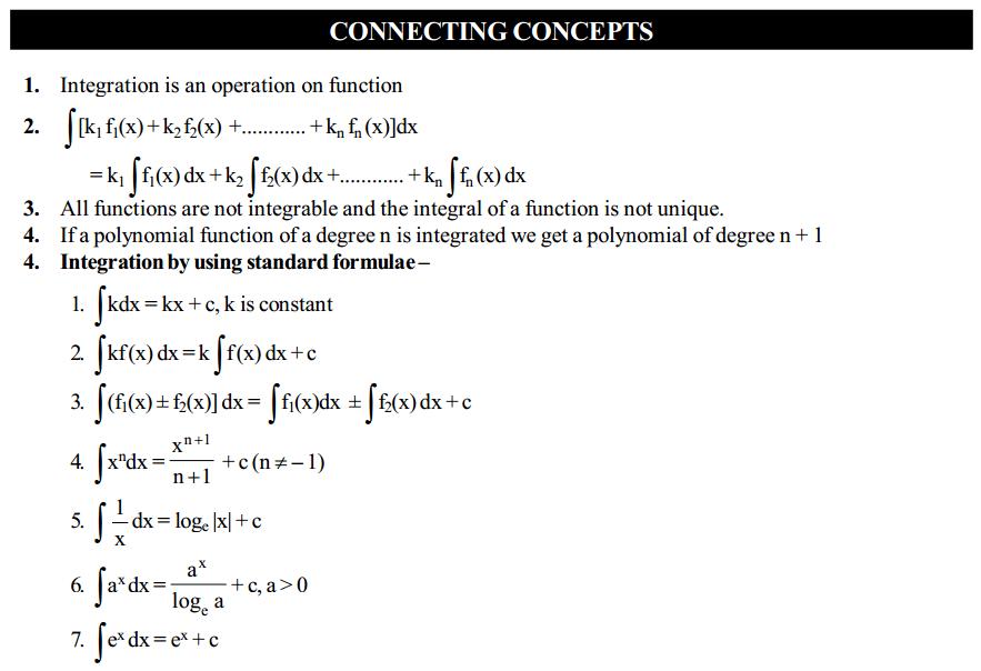 Integrals Formulas for Class 12 Q9