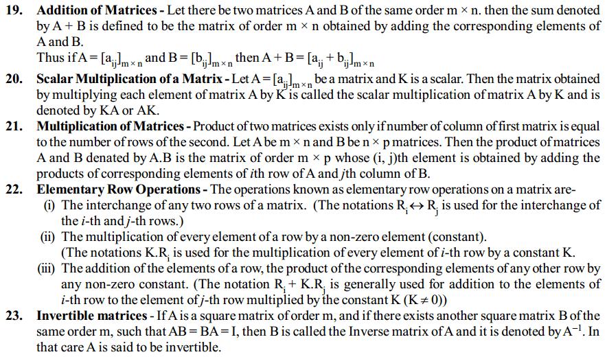Matrices Formulas for Class 12 Q4