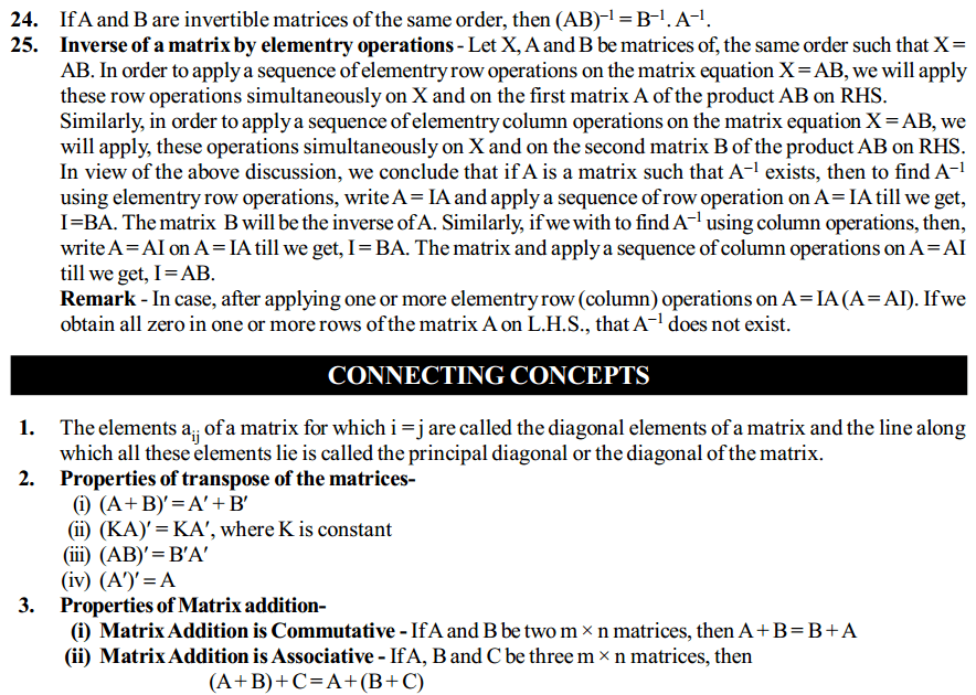 Matrices Formulas for Class 12 Q5
