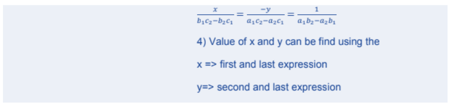 Pair of Linear Equations in Two Variables Formulas for Class 10 Q7