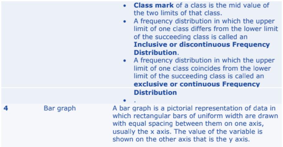 Statistics Formulas for Class 10 Q3