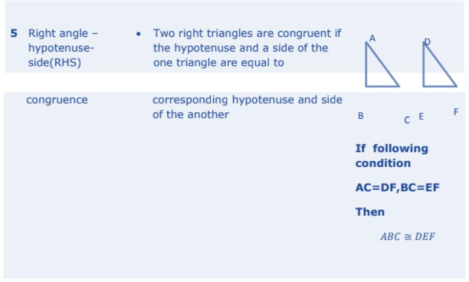 Triangles Formulas for Class 10 Q8
