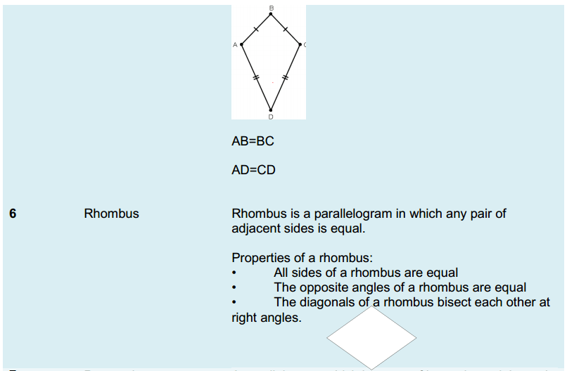 Understanding Quadrilaterals Formulas for Class 8 Q8